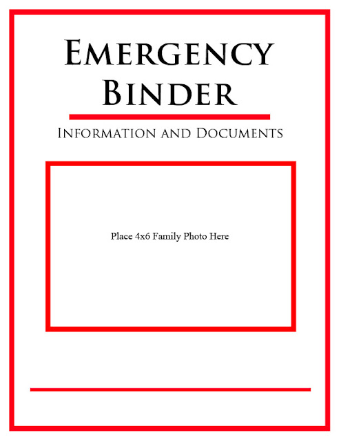 Printables for your Emergency Binder