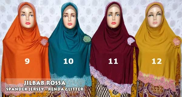 Model jilbab rossa dengan desain yang menarik bahan jersey