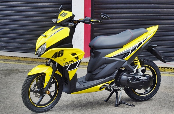 Mesin Yamaha Aerox 125 LC Belum BlueCore, ini Alasannya