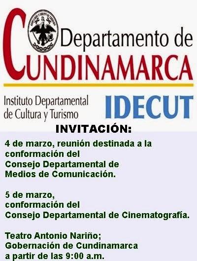 CUNDINAMARCA: Elección del Consejo Departamental de Medios de Comunicación y Cinematografía.