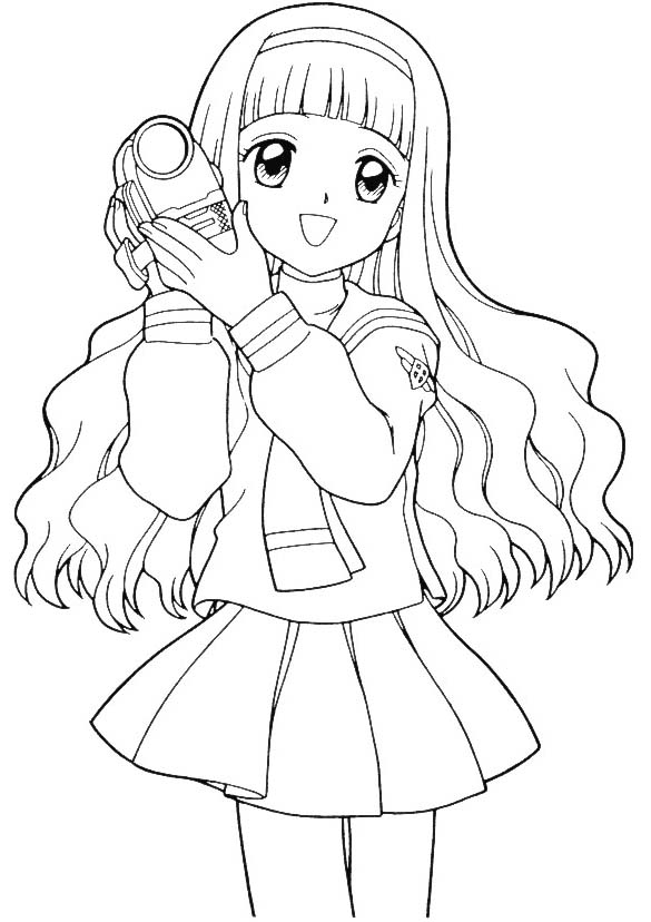Sakura Coloring Pages  Learn To Coloring