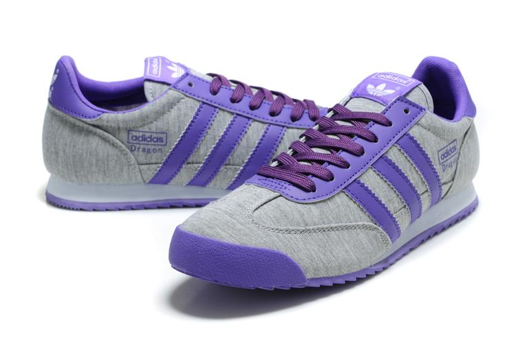 purple adidas dragons