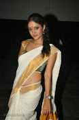 Actress Nivitha Glamorous photos in Saree-thumbnail-20