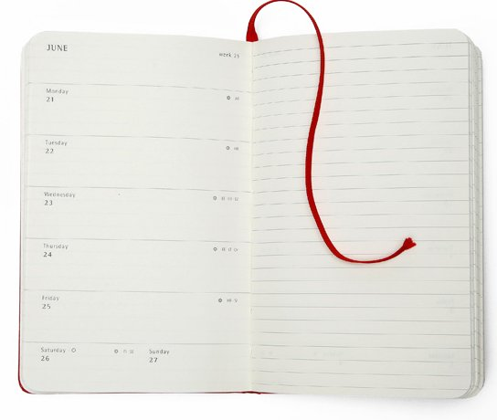 moleskine, kalendarz, kartka z kalendarza