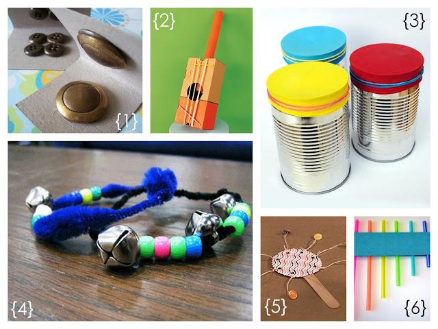 Instrumentos musicales con material reciclado ...