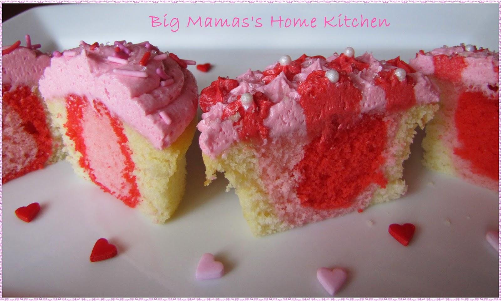 Big Mama's Home Kitchen: Valentine Sweetheart Cupcakes