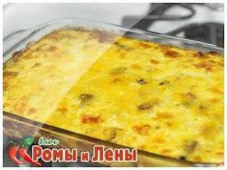 картофель с грибами в духовке с сыром