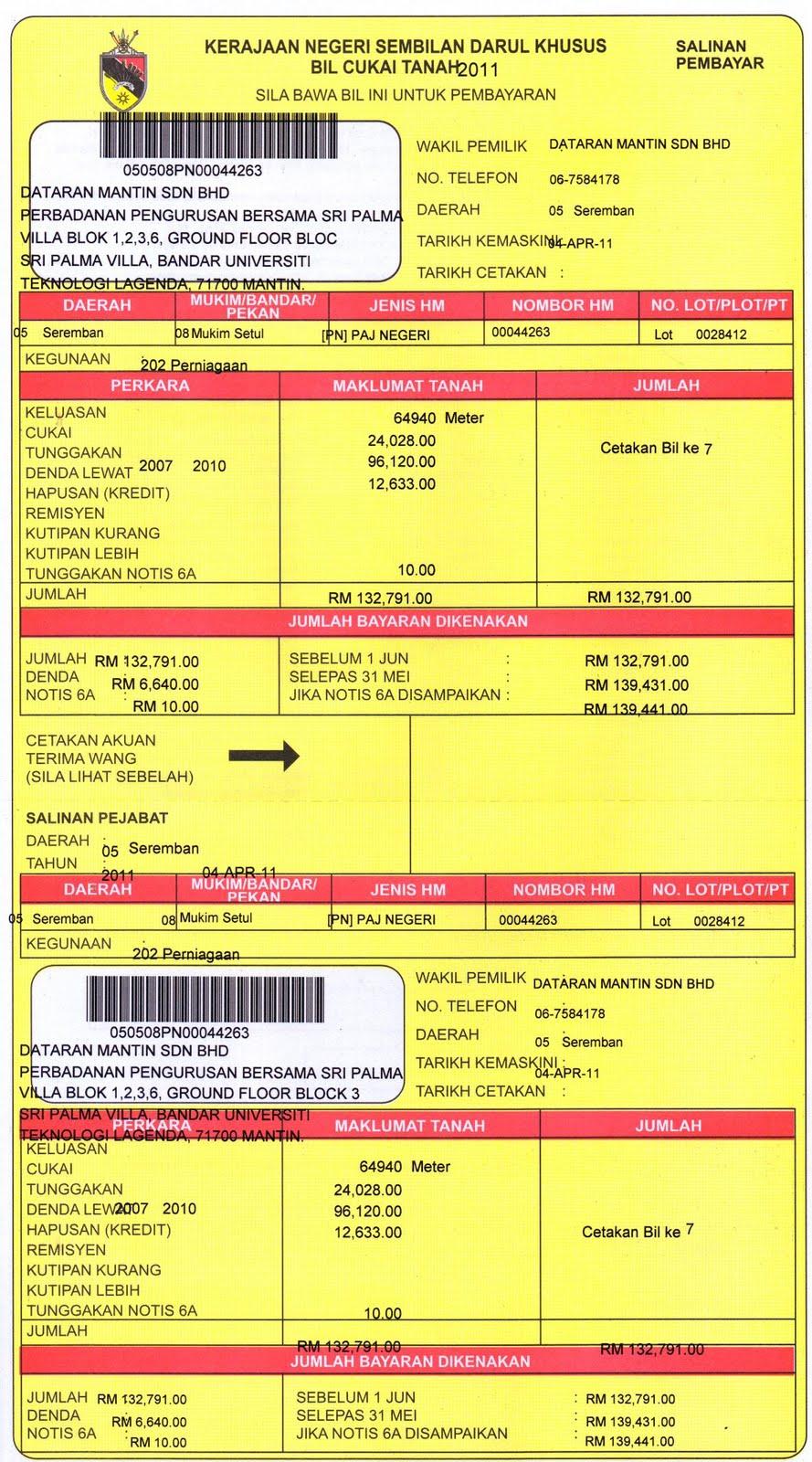 Quit Rent Malaysia Selangor Seremban F