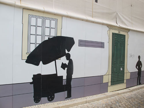 Murals in Faro Portugal