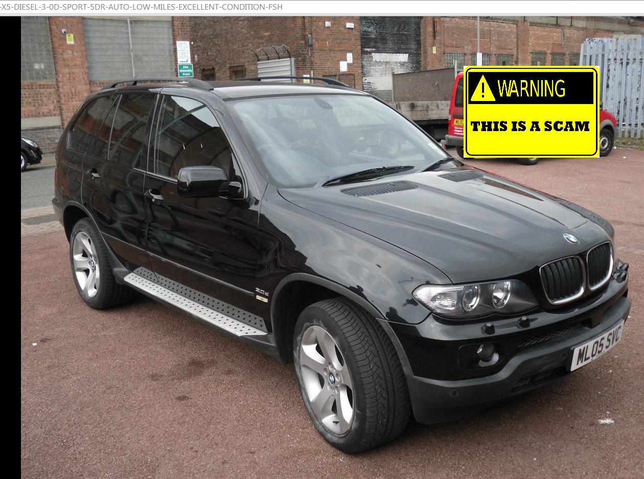 5600 scam bmw x5 2005 diesel sport auto ml05svc. Black Bedroom Furniture Sets. Home Design Ideas