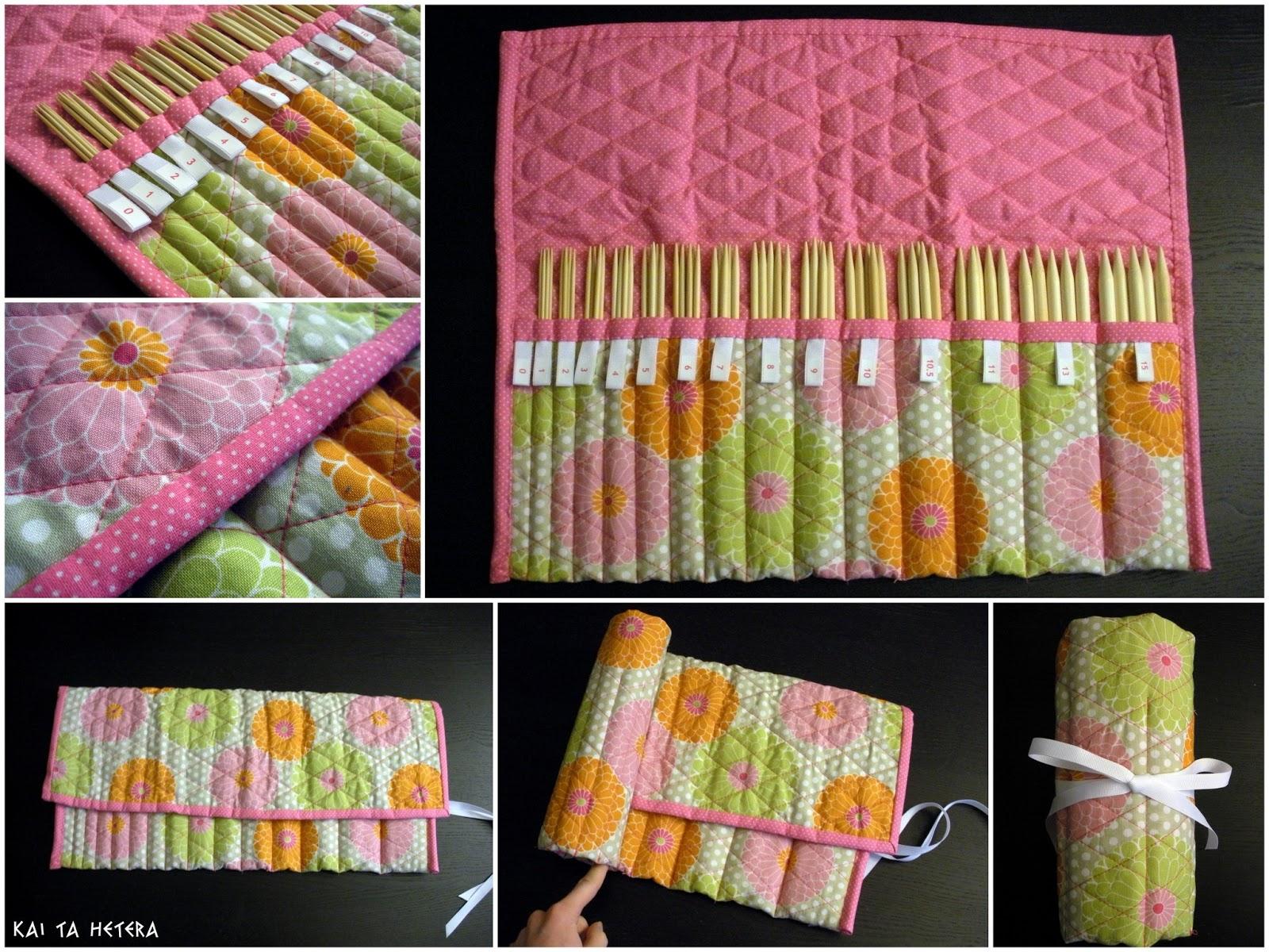 Quilted Knitting Needle Case Pattern : Kai ta hetera quilted knitting needle case
