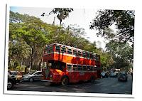 Autobus inglés en Mumbay