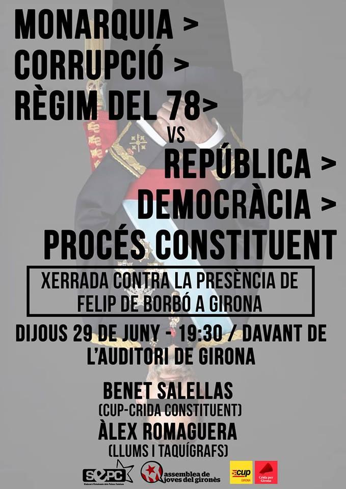 Acte contra la presència de la monarquia espanyola a Girona