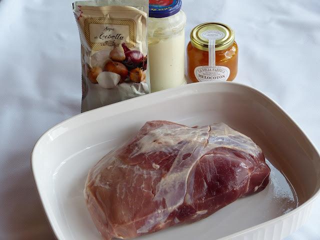 Jamón de Cerdo con salsa de albaricoque