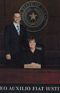 Meunster served as a law clerk for Judge Anne Gardner of the Second Court of Appeals in Texas.