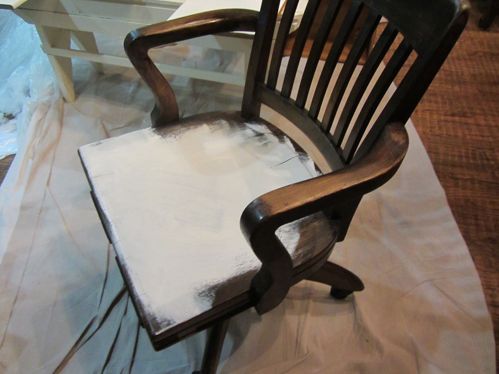At Rivercrest Cottage Pottery Barn Desk Chair Knock f