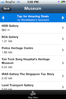 ShowNearby is Singapore's leading location-based service provider. ShowNearby has museum and library searches, enriching user information-seeking experiences with its breadth and depth of data.