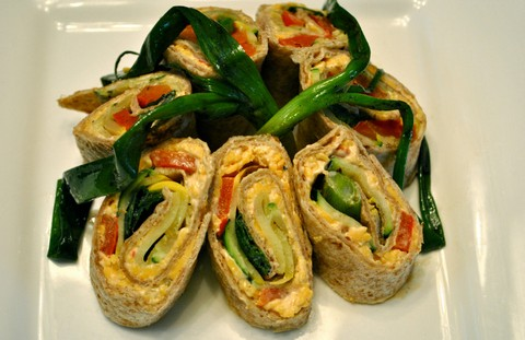 Grilled Vegetable Tortilla Rolls