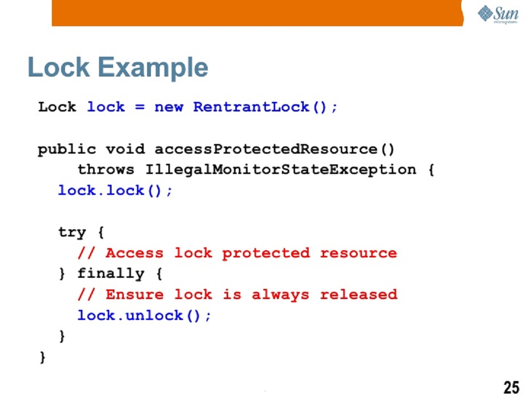 Java lock and condition example using producer consumer solution how to use lock and condition variables in java baditri Gallery