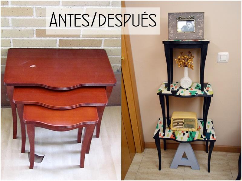 Tutorial el tuneo de unas mesas nido convertidas en - Tunear muebles viejos ...