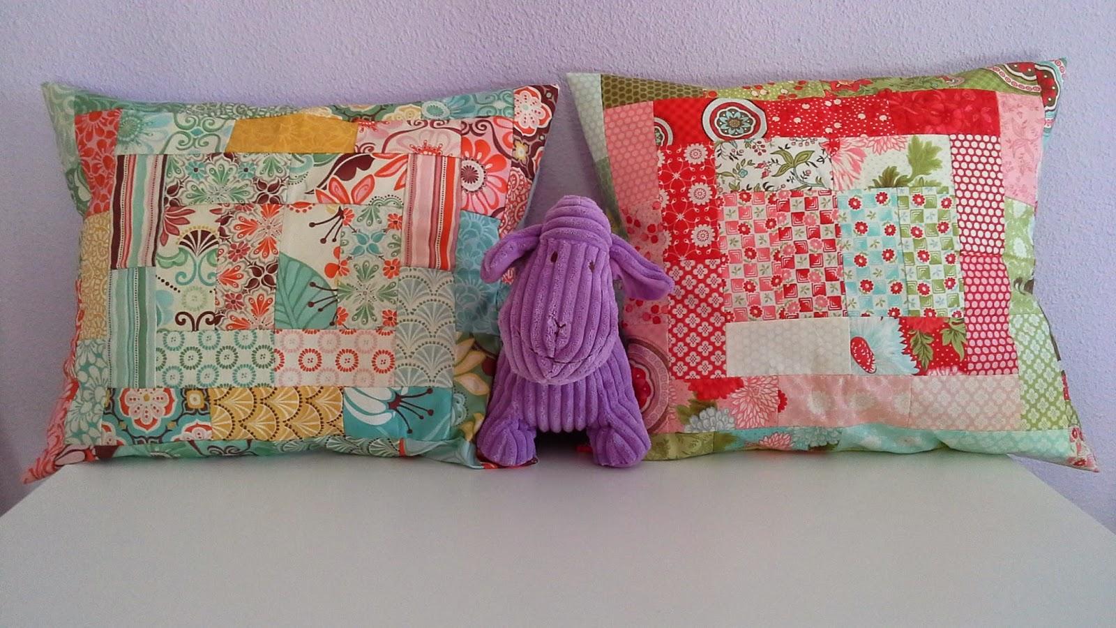 Elenamorarte cojines de patchwork para las tardes de - Cojines de patchwork ...