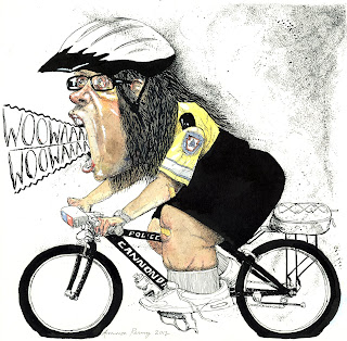 mayor linda thompson police bicycle cab driver