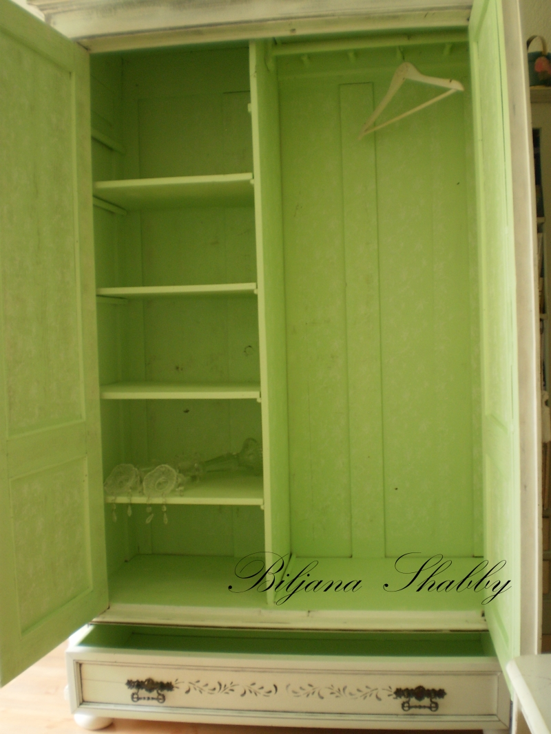 Hand Painted Armoire In Tonala Jalisco Mexico
