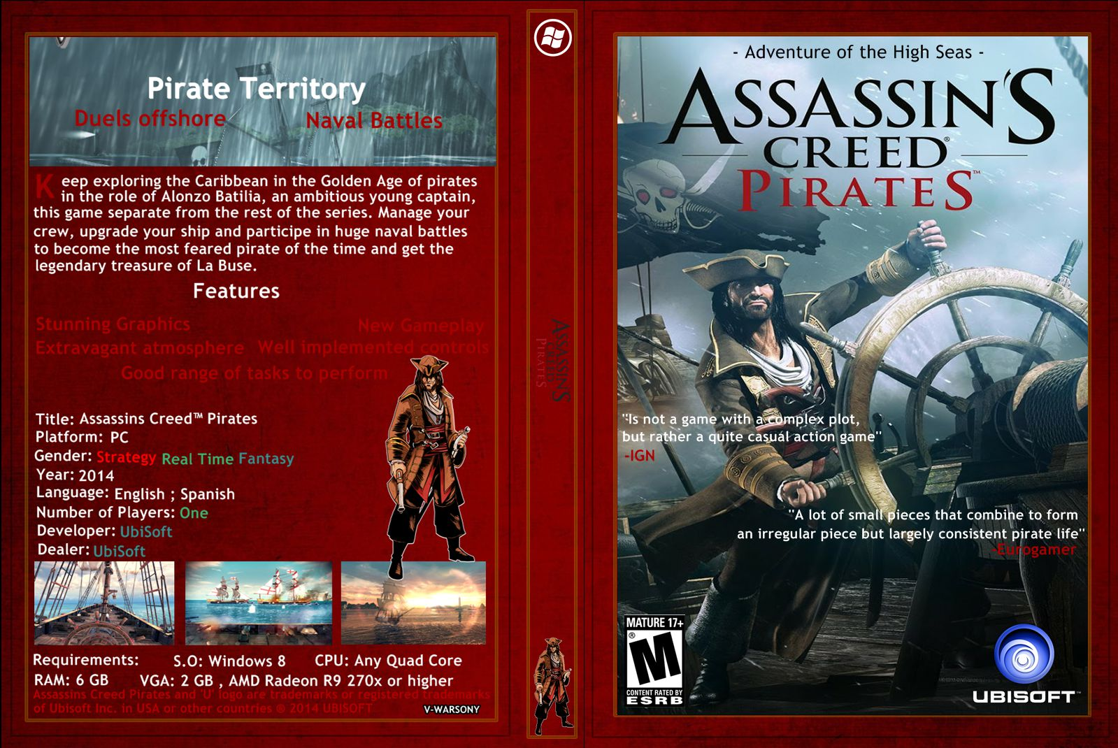 Capa Assassins Creed Pirates PC