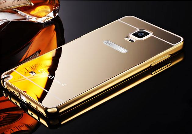 เคส Note 4 หลังเงา 121014 สีทองเงา