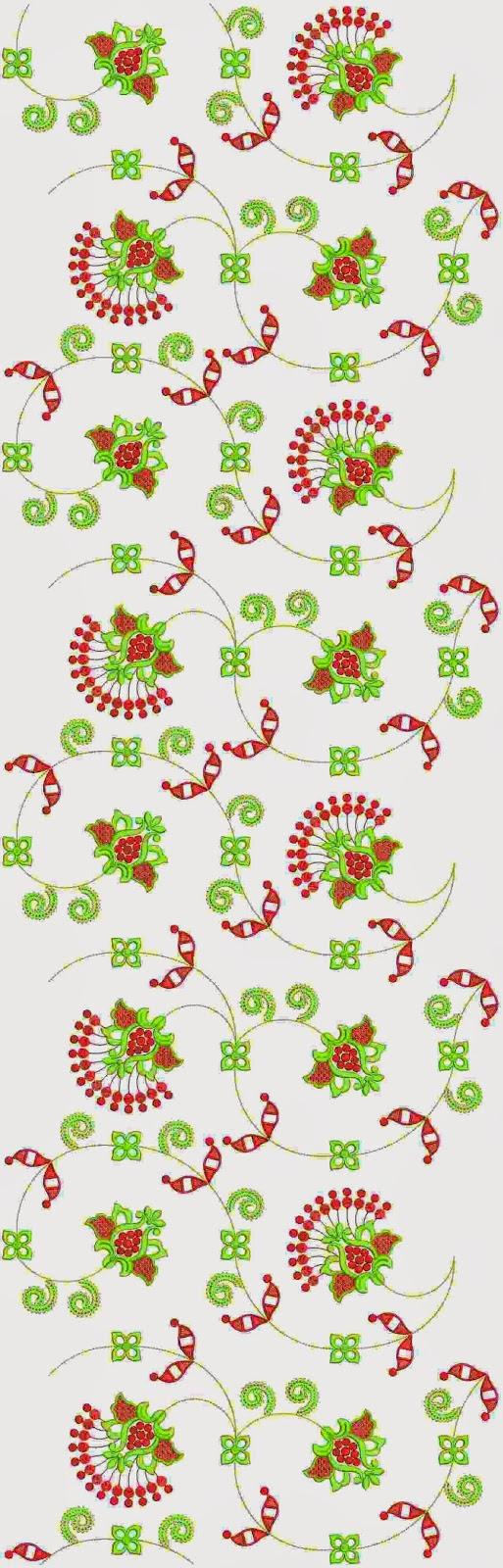 Floriani borduurwerk ontwerp Oral patroon