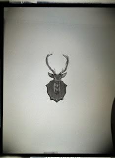 Plastic deer head