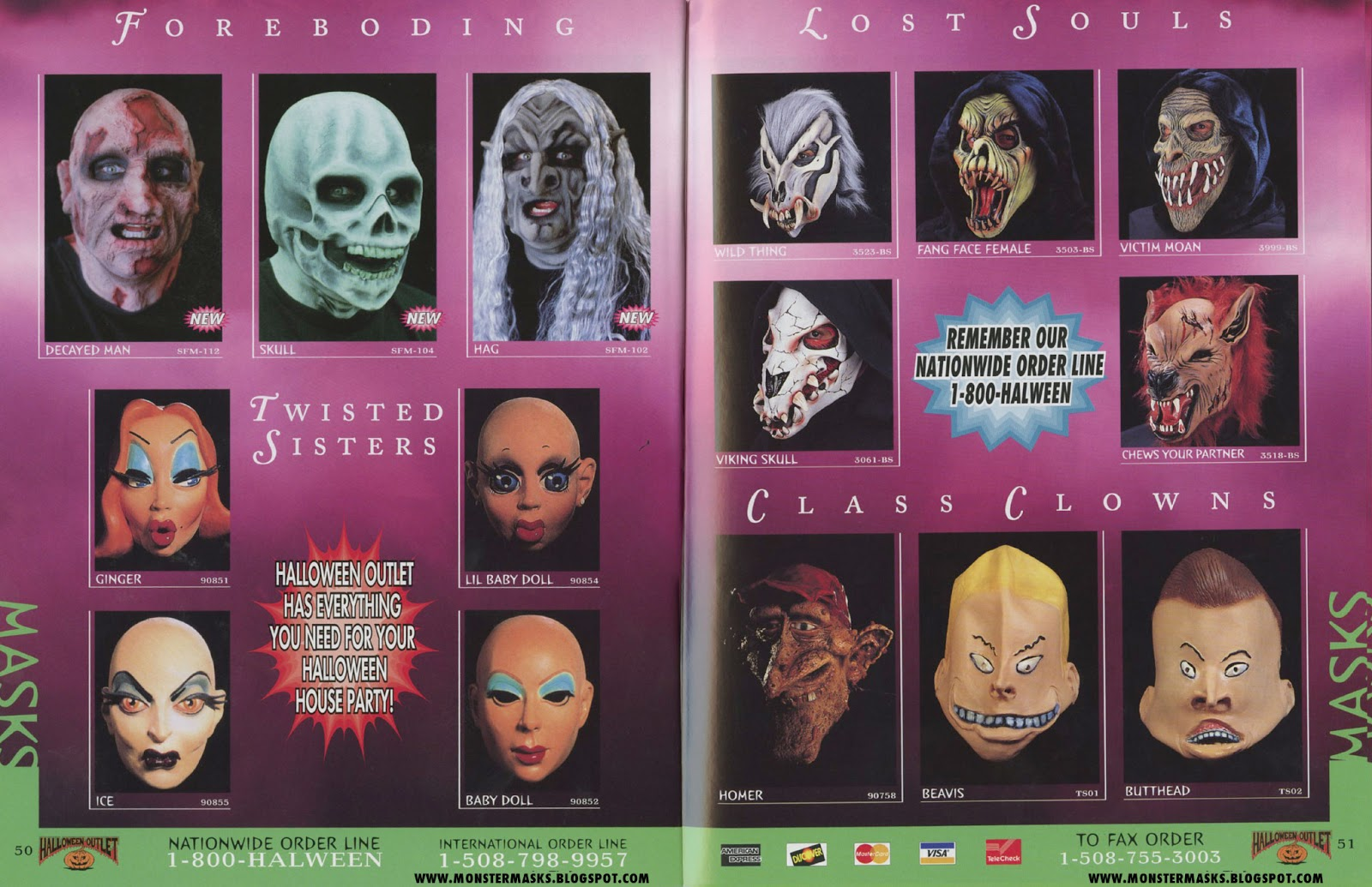 between the pages as the masks are loosely organized based on manufacturer with slight exception here and there the majority of pages here contain - Halloween Catalog
