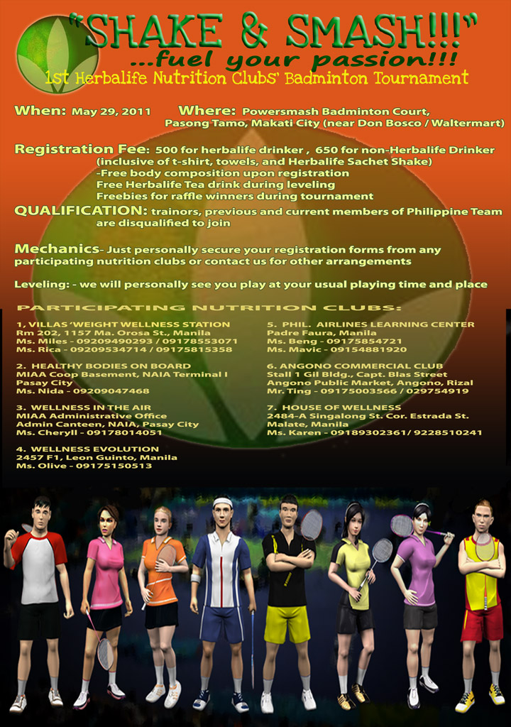 Love Ko Badminton: 1st Herbalife Nutrition Clubs Badminton ...