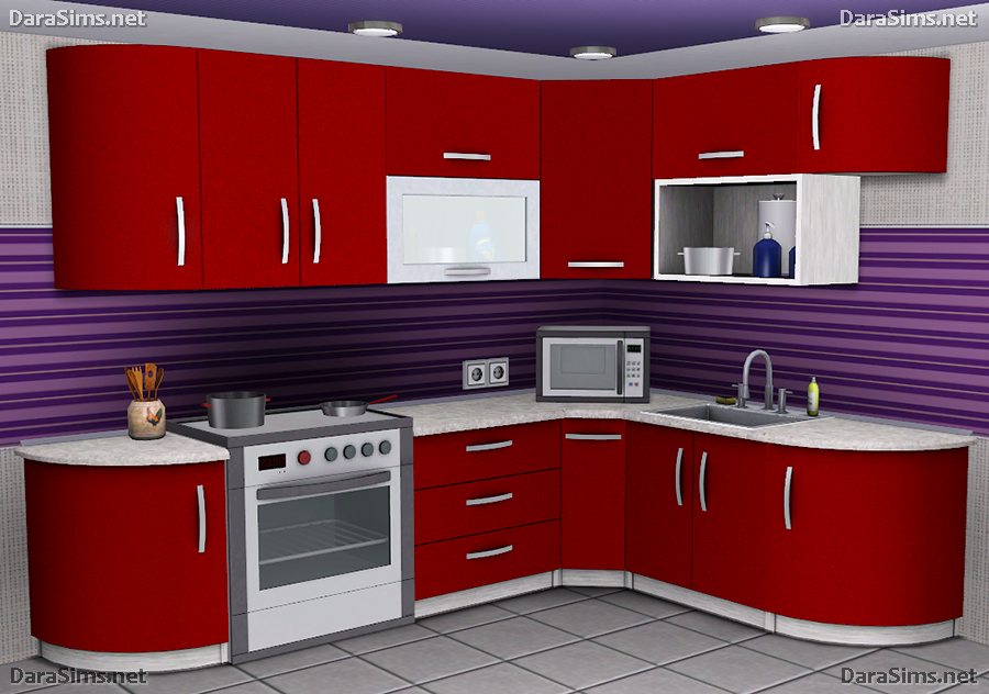 My sims 3 blog kitchen counters and cabinets by dara for Modern kitchen sims 3