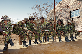 Serious girl power, the Black Mambas anti-poaching unit is a South African ranger group.