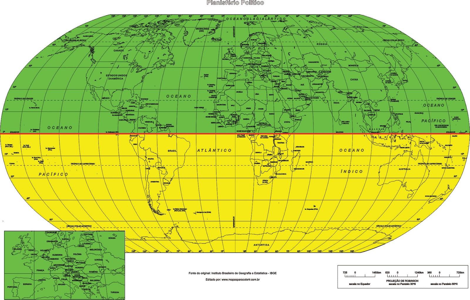 Resultado de imagem para mapa mundi hemisférios