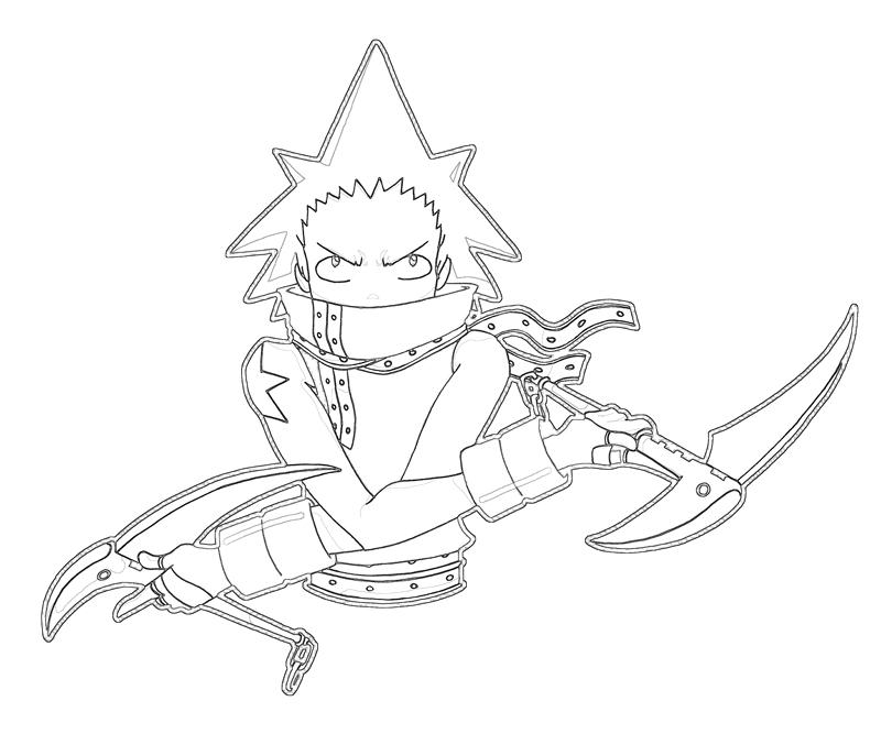 Free Coloring Pages Of Black Star Soul Eater Coloring Pages