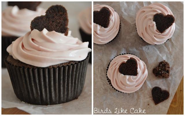 Valentinstag Herz Cupcakes Birds Like Cake Valentines Day