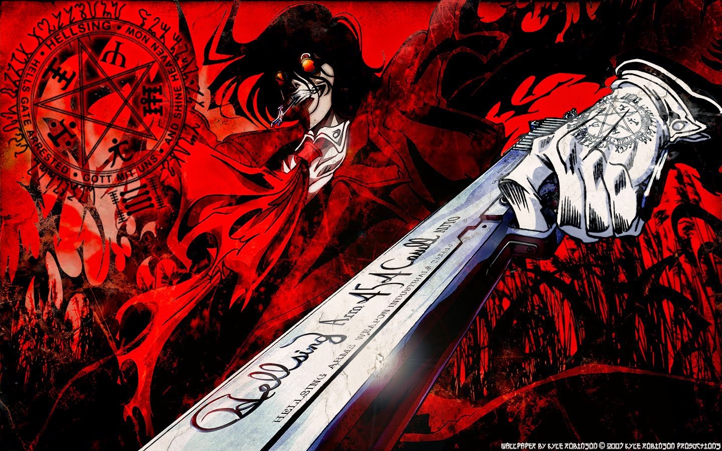 Hellsing Wallpaper Hellsing Wallpaper Black White And Red Anime Wallpapers Daeya