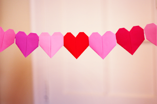 valentine's day craft for tweens origami heart garland