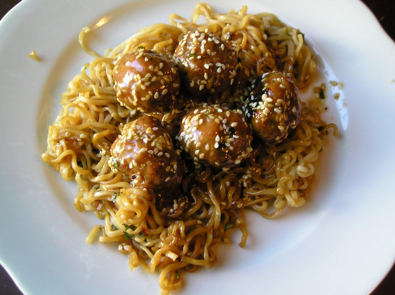 Asian Meatballs With Peanut Sauce Recipe — Dishmaps