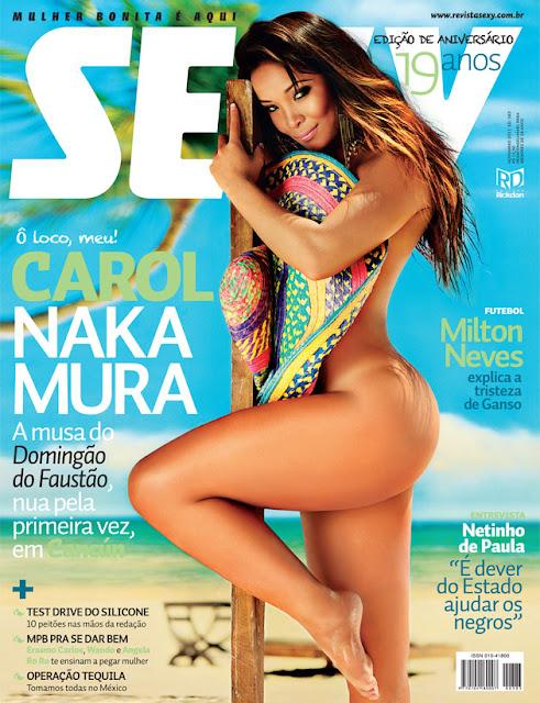 Confira as fotos da Delicia do Domingão do Faustão, Carol Nakamura, capa da Sexy de novembro de 2011!
