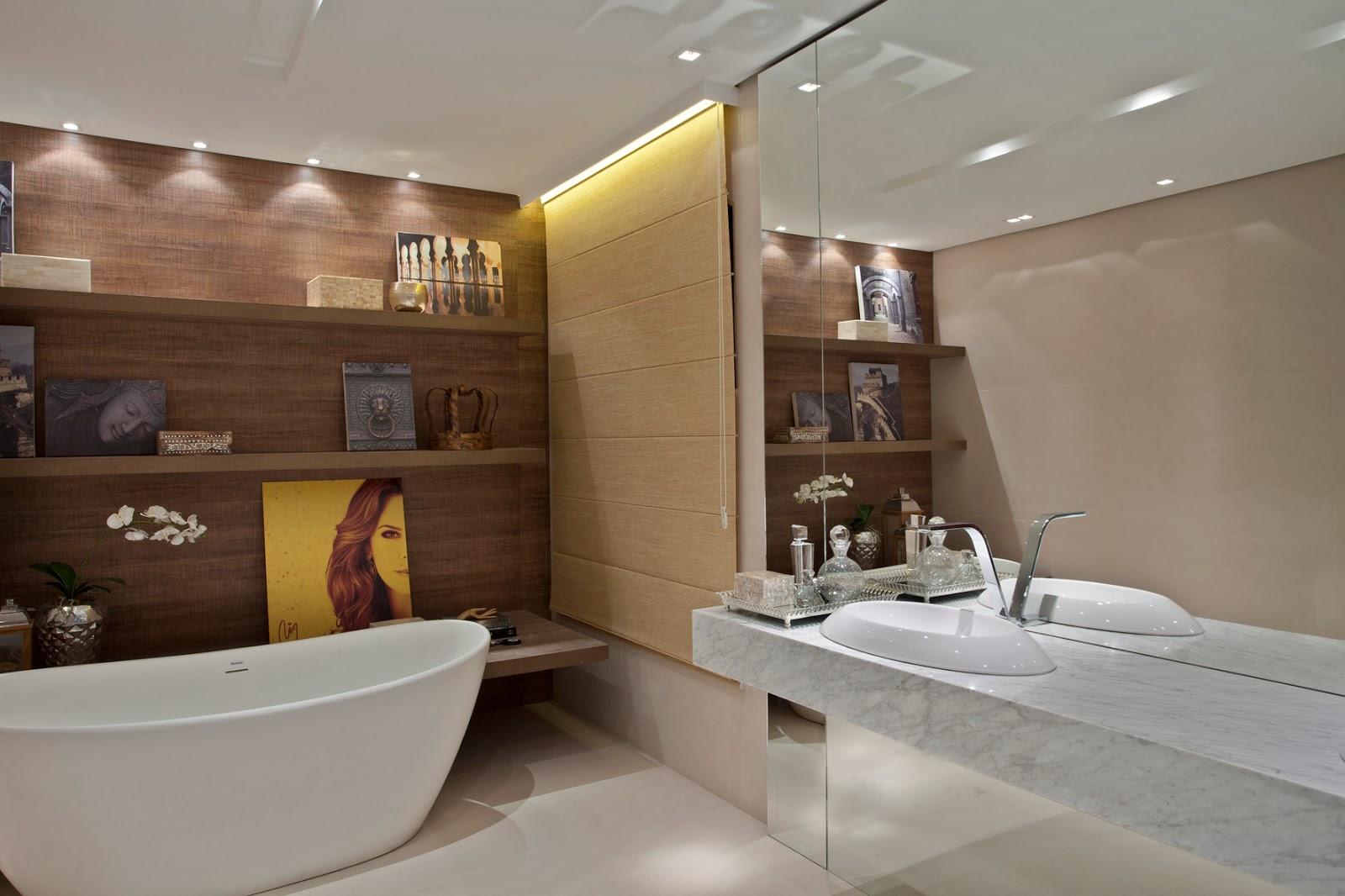 Ateliê Revestimentos: 10 sugestões para decorar banheiros e lavabos #997832 1600 1066