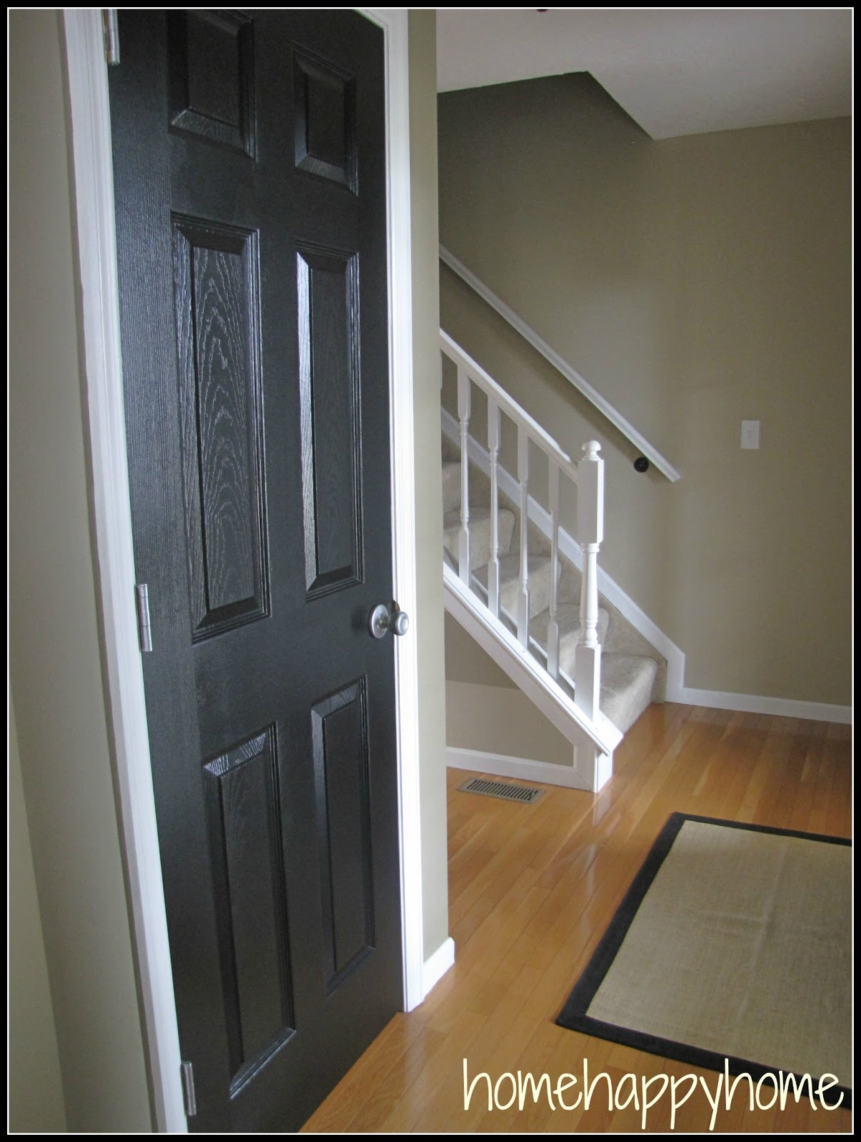 Bookgirlcreations Black Painted Interior Doors