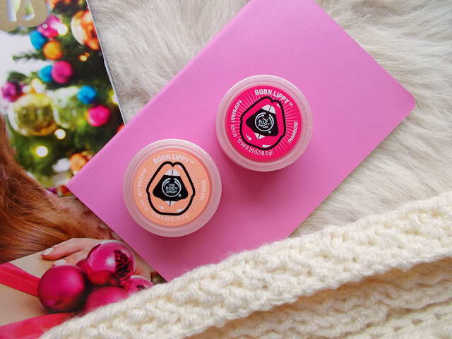 The Body Shop lip balms