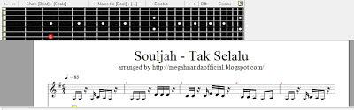 "Aransemen ""Souljah - Tak Selalu"" di Guitar Pro"