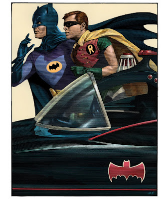 Batman '66 Screen Print by Mark Summers x Geek Art x French Paper Art Club