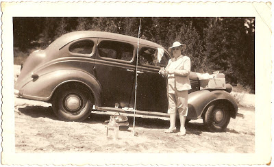 Leona Grant of Alameda California fishing trip with car