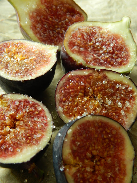 Lemon Love Notes: Sweet Couscous with Baked Figs & Lebnah