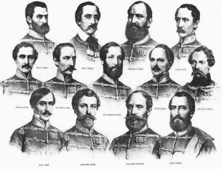 aradi vértanúk, évforduló, magyarság, történelem, aradi tizenhármak, 1848-49-es forradalom és szabadságharc,